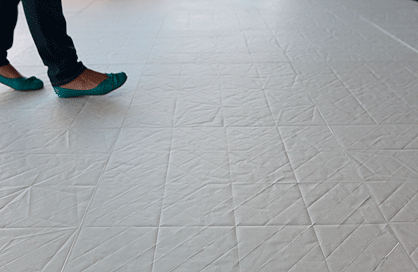 céramique laurentides plancher blanche