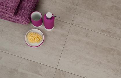 plancher de douche en ceramique soligo grise salle de bain rose laval blainville rosemere montreal