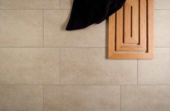 Céramique plancher beige soligo blainville rosemère laval montreal