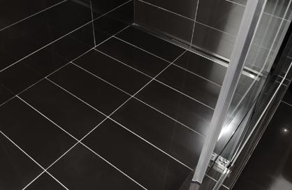 Céramique noire plancher douche Soligo