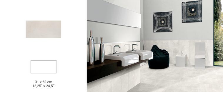 douche en céramique grise pale comptoir noir laval