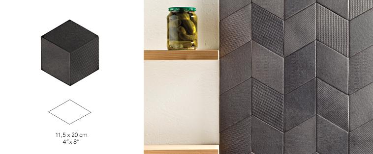 mosaïque dosseret gris foncé tex soligo laval montreal rosemere blainville