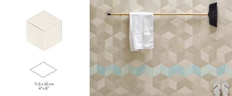 mosaïque dosseret beige brun turquoise salle de bain tex soligo laval montreal rosemere blainville