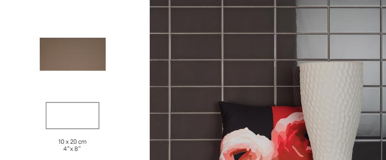 mosaïque dosseret brun chocolat salle de bain soligo laval montreal rosemere blainville