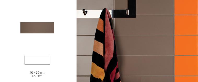 mosaïque dosseret tuile metro brune orange soligo laval montreal rosemere blainville