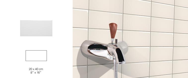 mosaïque dosseret ivoire mur de bain soligo laval montreal rosemere blainville