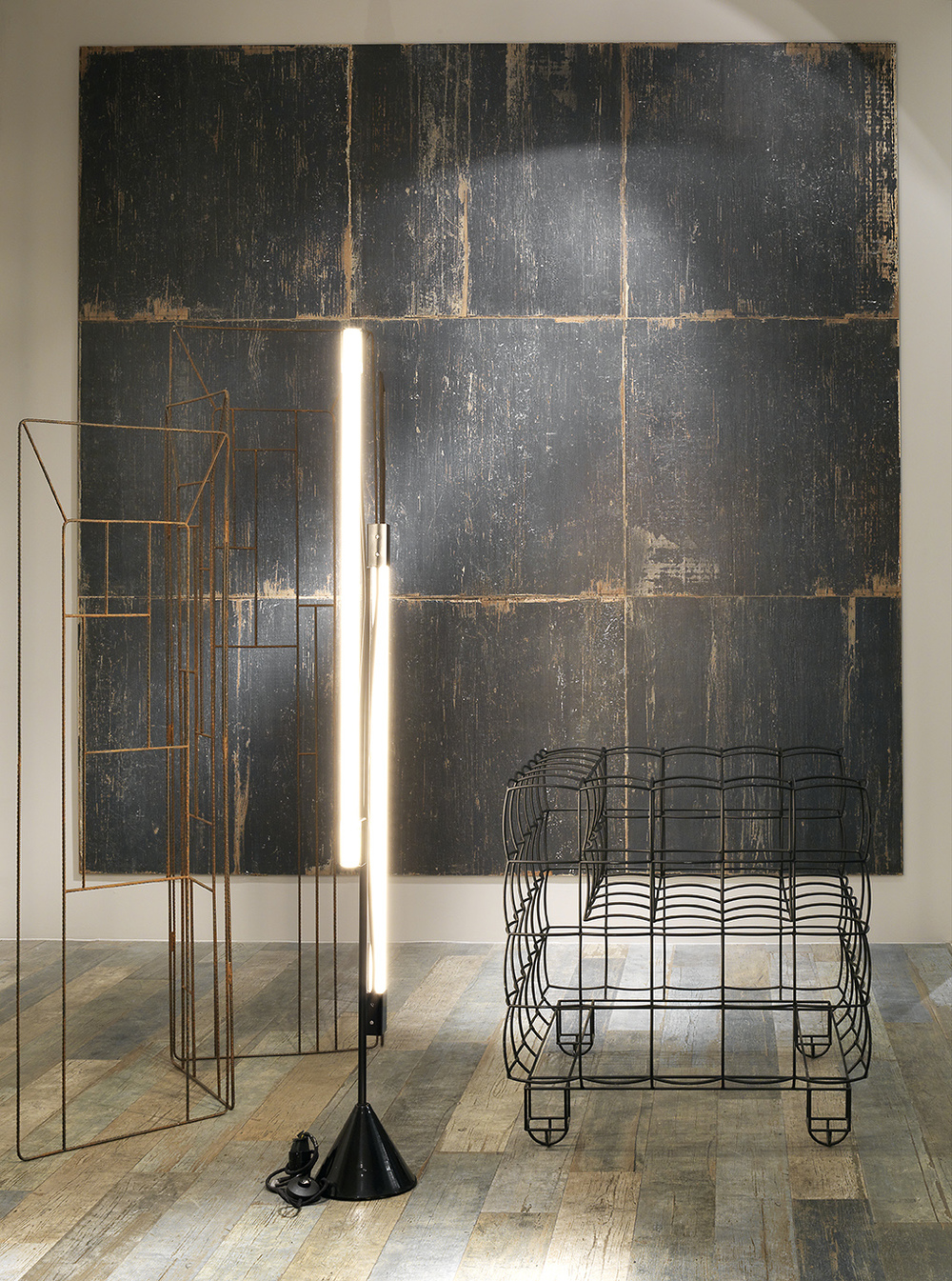 céramique imitation bois noir dosseret