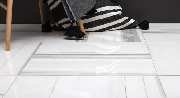 Céramique grand format imitation marbre - Soligo Marmi 24x24