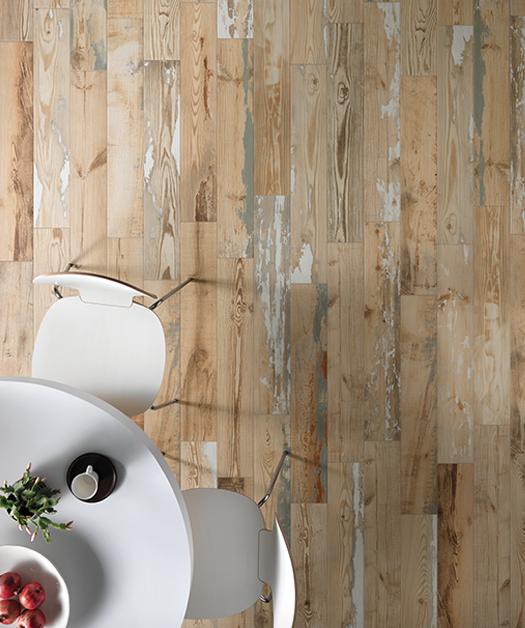 ceramique imitation bois blanche hexagonale charm rive nord cuisine