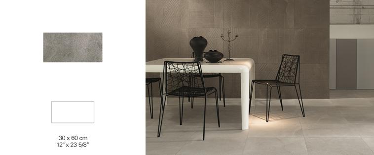 Ceramique grand format 24x24 plancher gris Mirabel