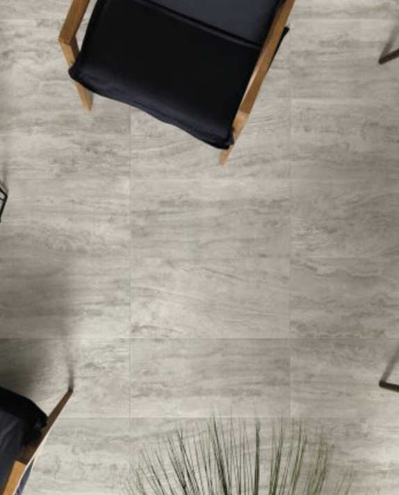 Ceramique plancher pierre travertin