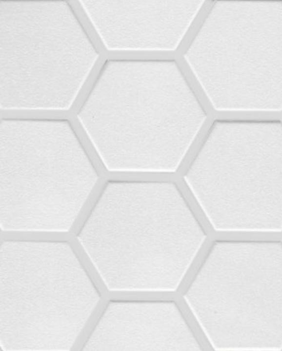 La Tuilerie Rive-Nord ceramique mur hexagonale blanche kaolinhex