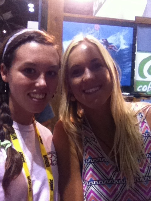 Bethany Hamilton and me at Surf Expo in Orlando