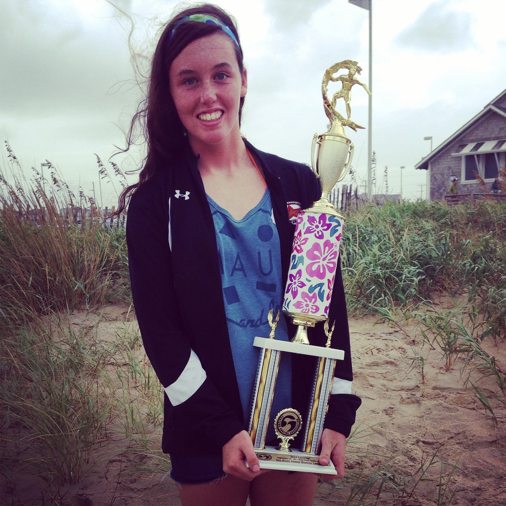 Happy with 3rd place in Jr. Women's Longboard!