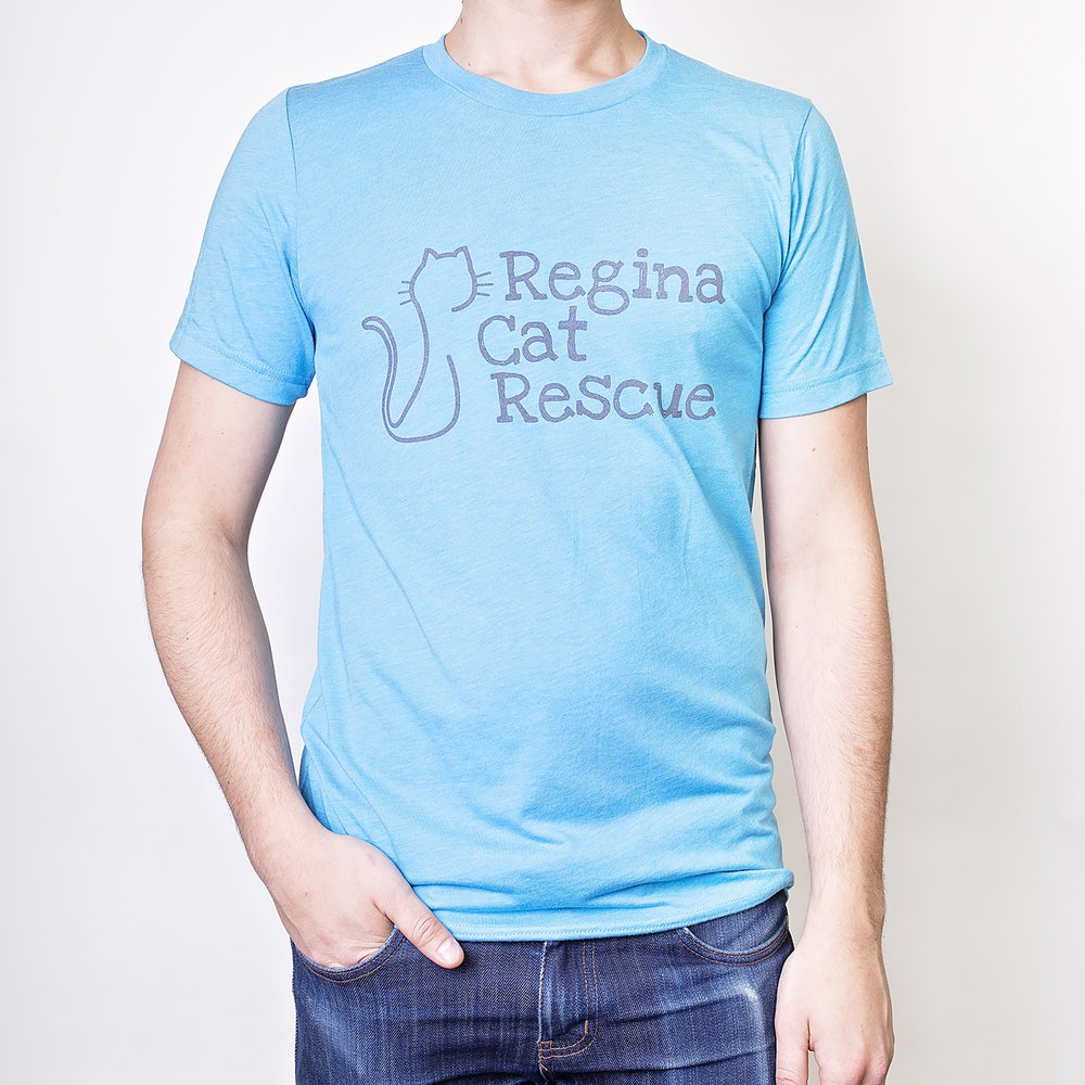 Unisex Style in Aqua with grey logo