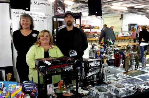 Club Expo Stand at The Mega Toy Fair - June 2 & 3 2013.    A highly successful weekend for us in receiving many new club memberships and club merchandise sales during the two day event!   (Pictured L to R - Members, Ilona, Carrie-ann and Rob)