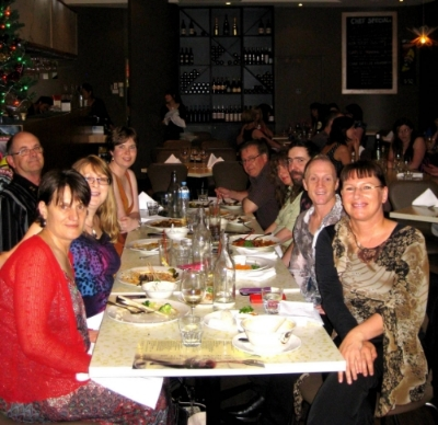 December 21 - Our second of our Christmas meet-ups and what a fantastic time we had at The Lemongrass Thai Bistro on Rundle St!