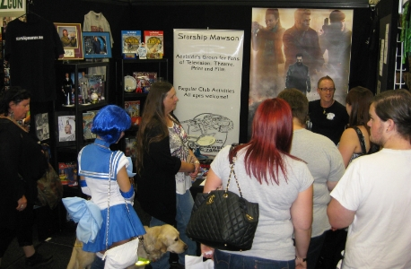 Both days of Oz Comic Con in Adelaide on April 5 and 6 would prove to be highly successful for us as we attracted many new financial club members as well as selling tables for our upcoming Ultimate Quiz Night on August 9! Club Captain - Stu Blair is seen here, explaining the many great benefits of joining Adelaide's coolest meet-up group!