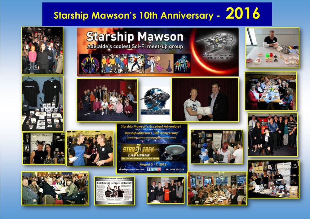 As we bid farewell to 2016, we look back on a fantastic year of 10th anniversary celebrations since our inception.We are the only Star Trek fan organisation in the world, to have had its logo designed by the senior illustrator for Star Trek - Mr John Eaves, and to have been officially launched by a Star Trek actor - The late Mr Barry Jenner!