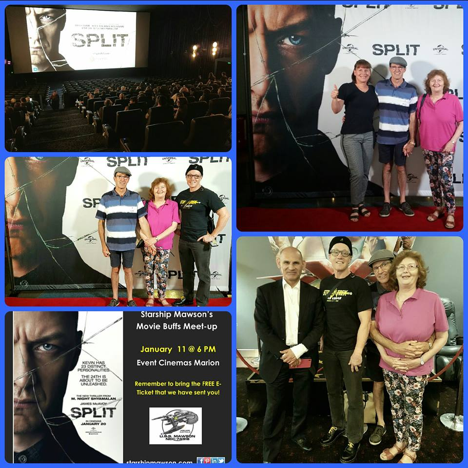 January 11 meet-up was at Event Cinemas, Marion for the special presentation of 'Split' and what a great night we all had!