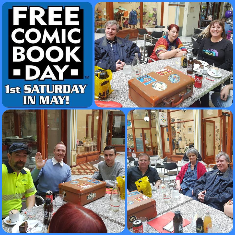 May 5 Free Comic Book Day fun with all in attendance securing a selection of great literature to read!