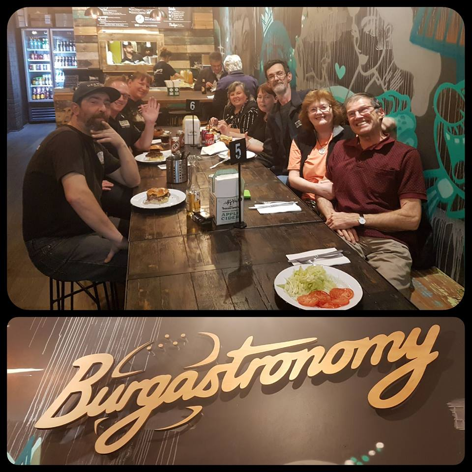 September 14: Starship Mawson's Galactic Gourmets monthly foodies event was at Burgastronomy in Hyde Park and what a fun evening it was!    Stay tuned for next month's location as we continue our tour of Adelaide's coolest eateries!