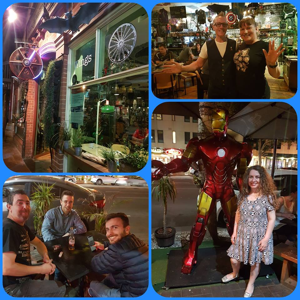 Starship Mawson's foodies were on hand to join in with Rob and enjoy a sumptuous array of tasty delights whilst viewing the cool pop culture memorabilia inside the restaurant!