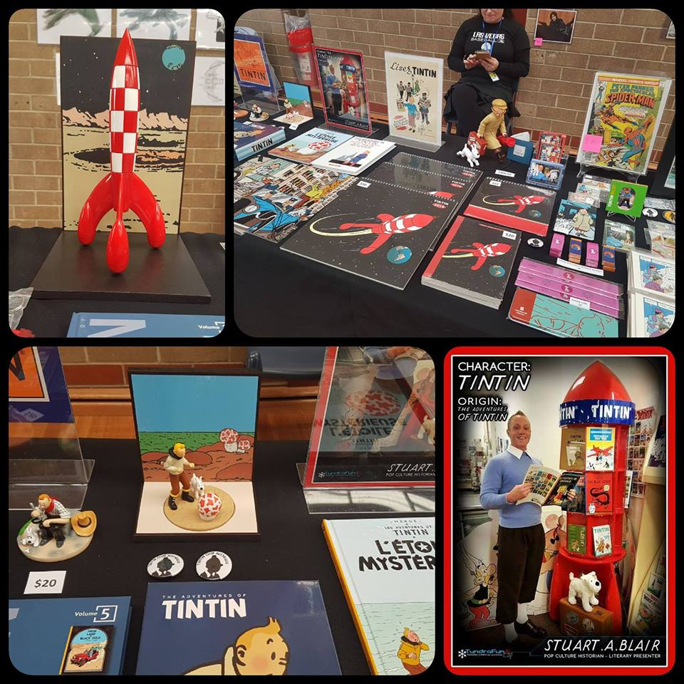 Tintin Shop Singapore promo at Adelaide Comic and Toy fair - Oct 1 b.jpg