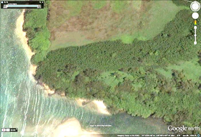 Kaukaniaunu - Google Earth aerial view (2003) See 2003 image versus 2009 image below.