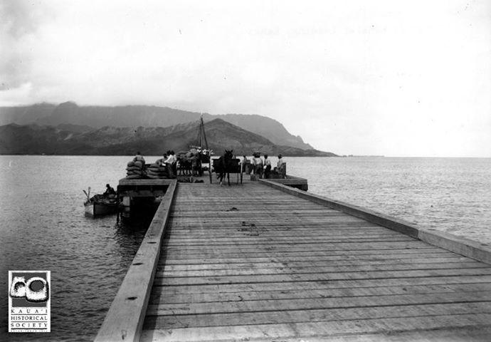 Hanalei Pier Late 1800's