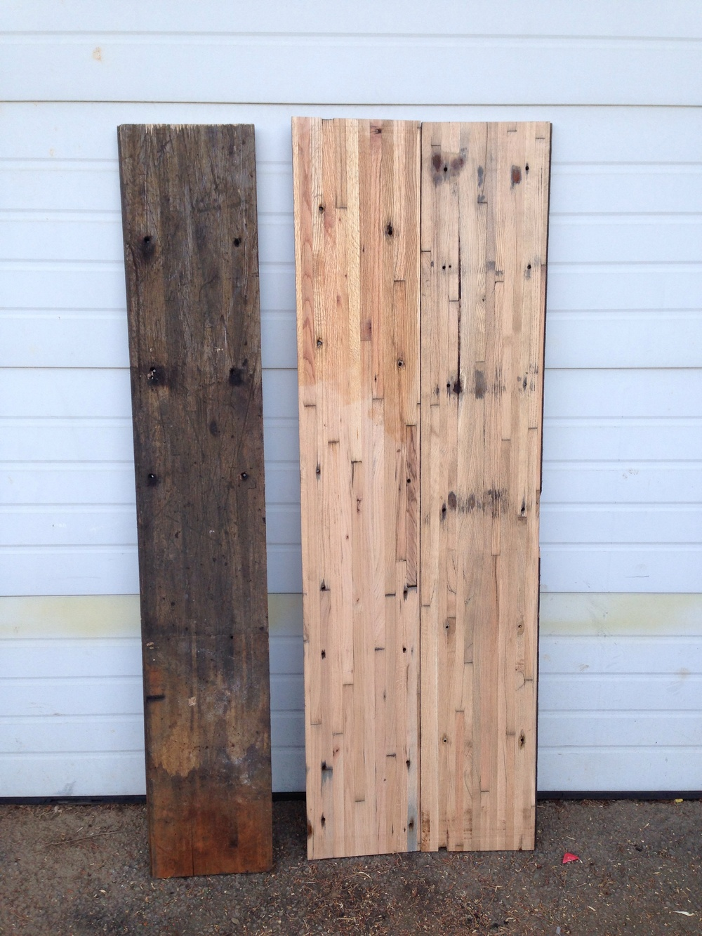 Semi truck trailer bed decking vibe reclaimed works this is some reclaimed red oak that we picked up last week the original planks were part of a semi truck trailer bed we debated wether or not to plane baanklon Images