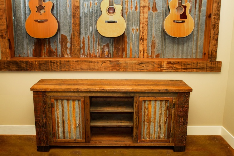 Barn Wood Credenza - Barn Wood Credenza €� Vibe Reclaimed Works