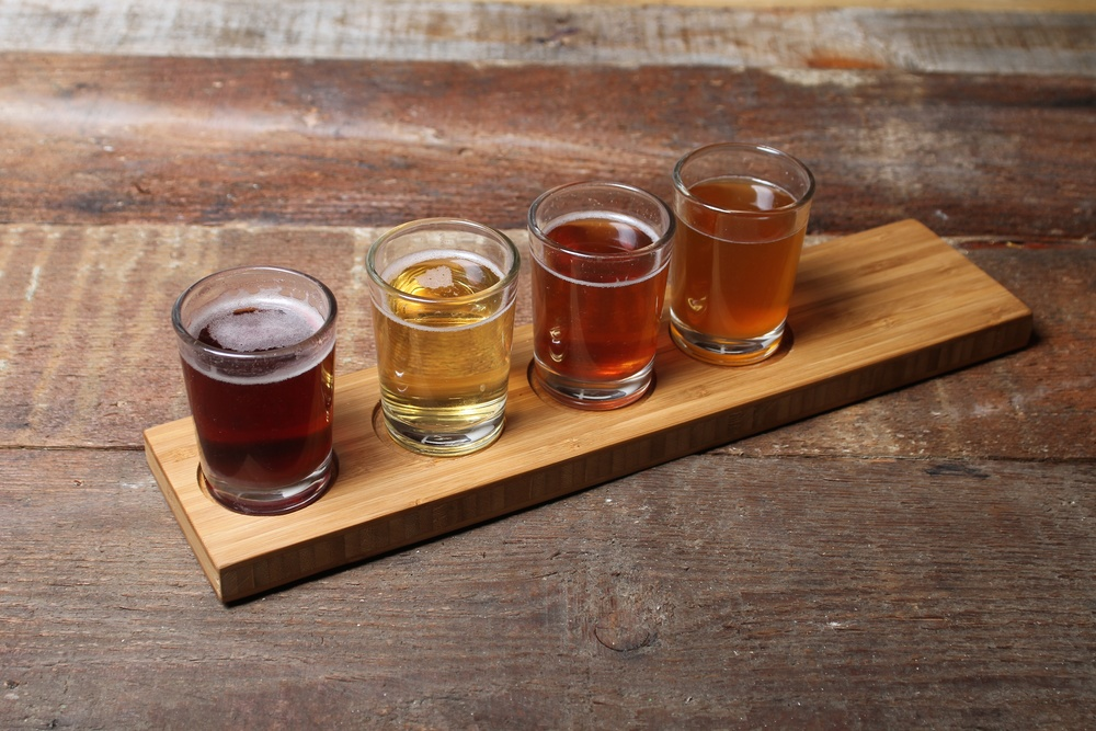 Bamboo Beer Flight Board Vibe Reclaimed Works