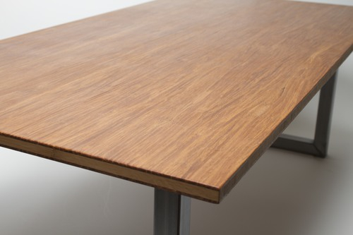 Modern Strand Woven Bamboo Coffee Table - Modern Strand Woven Bamboo Coffee Table — Vibe Reclaimed Works