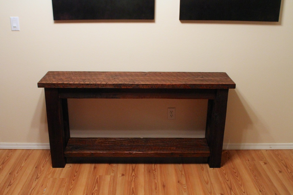 Barn Wood Entry Table