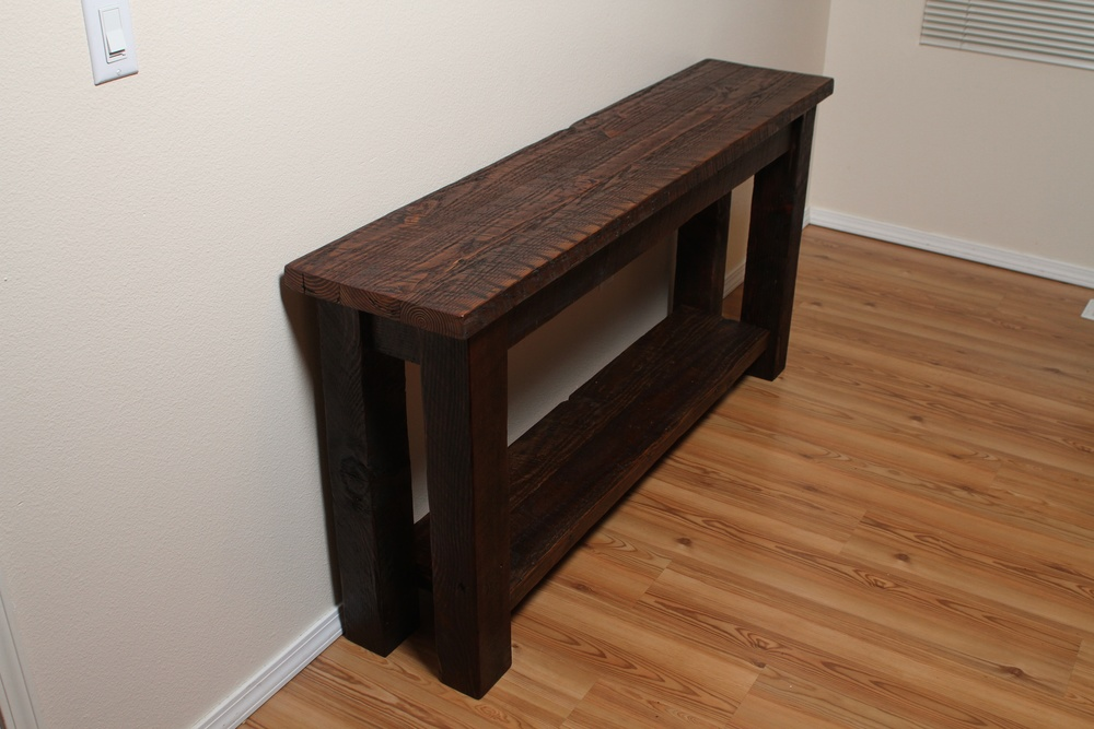 Barn Wood Entry Table Vibe Reclaimed Works