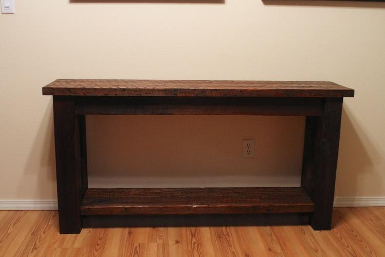 IMG_9594.jpg - Barn Wood Entry Table €� Vibe Reclaimed Works