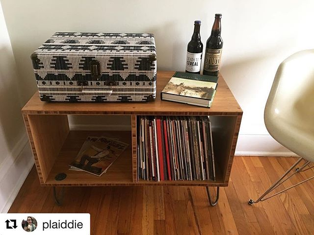 #Repost @plaiddie with @repostapp ・・・ Thanks to @ryan2613 and @vibereclaimed / @mclouser for my fantastic record stand!!
