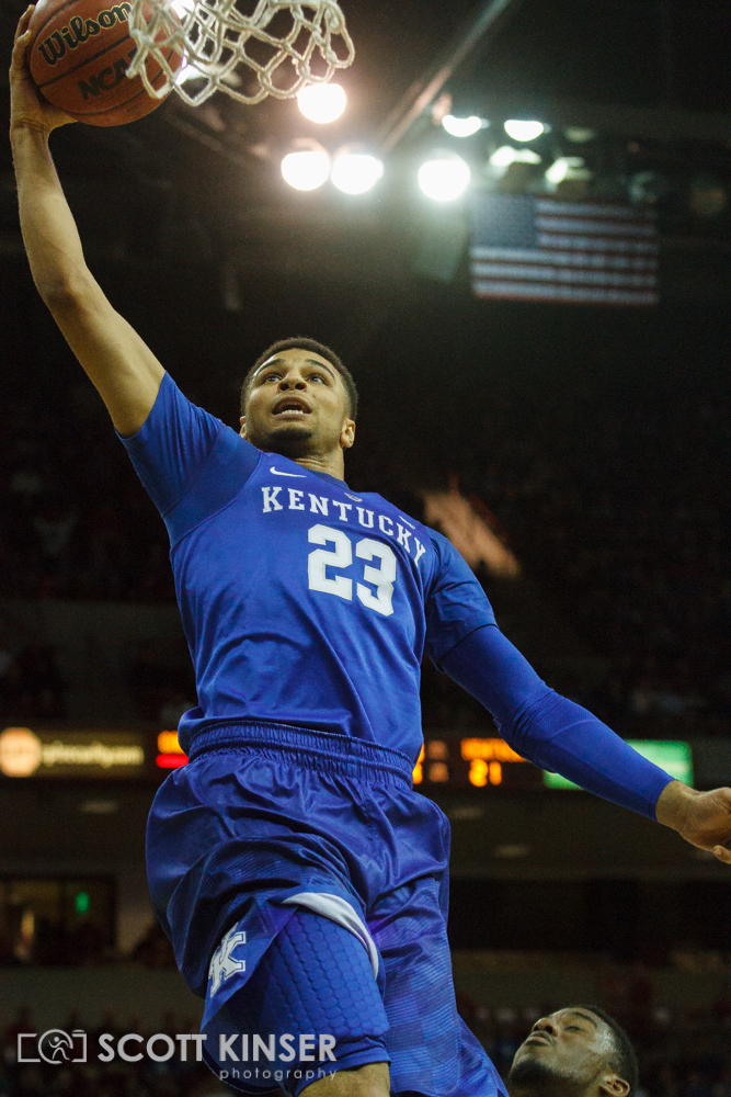 February 13, 2016: Kentucky Wildcats guard Jamal Murray (23) with the layup in the NCAA Basketball match-up between the Kentucky Wildcats and the South Carolina Gamecocks at Colonial Life Arena in Columbia, SC. Scott Kinser/CSM