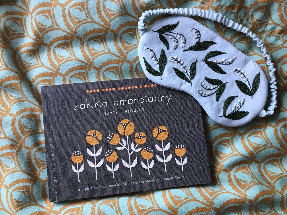 Zakka Embroidery Eye Mask Project Bolt Fabric Boutique Portland