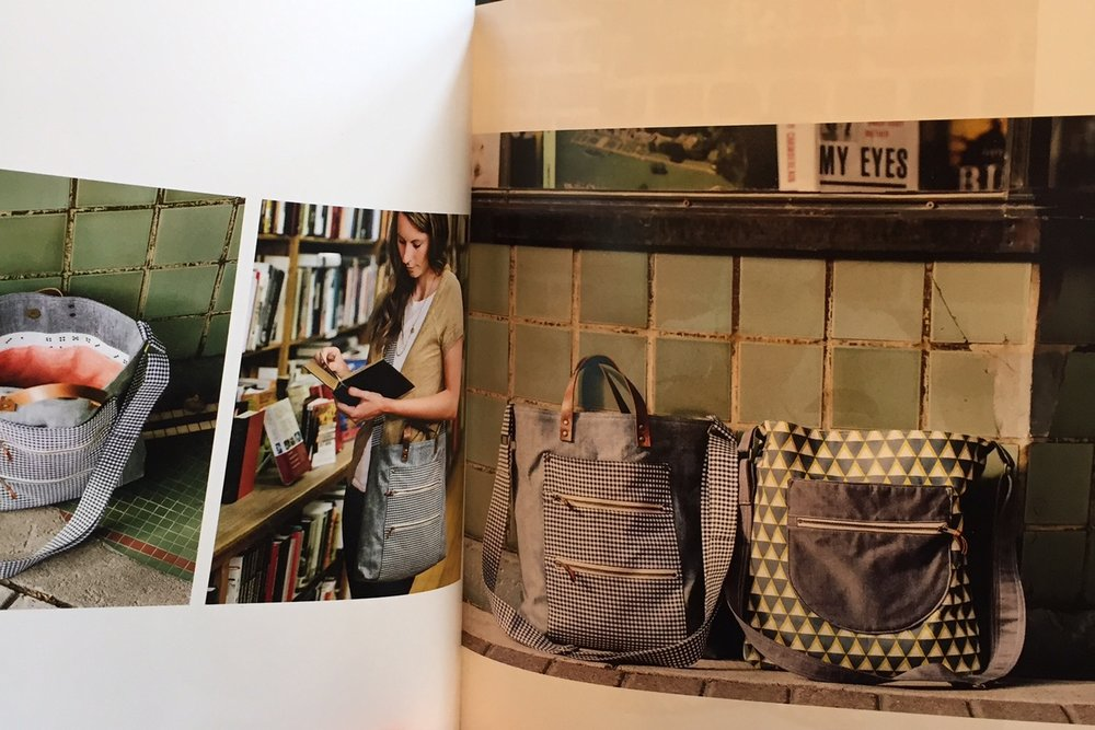 "Anna Graham's ""Handmade Style"" book is chock full of projects needing zippers."