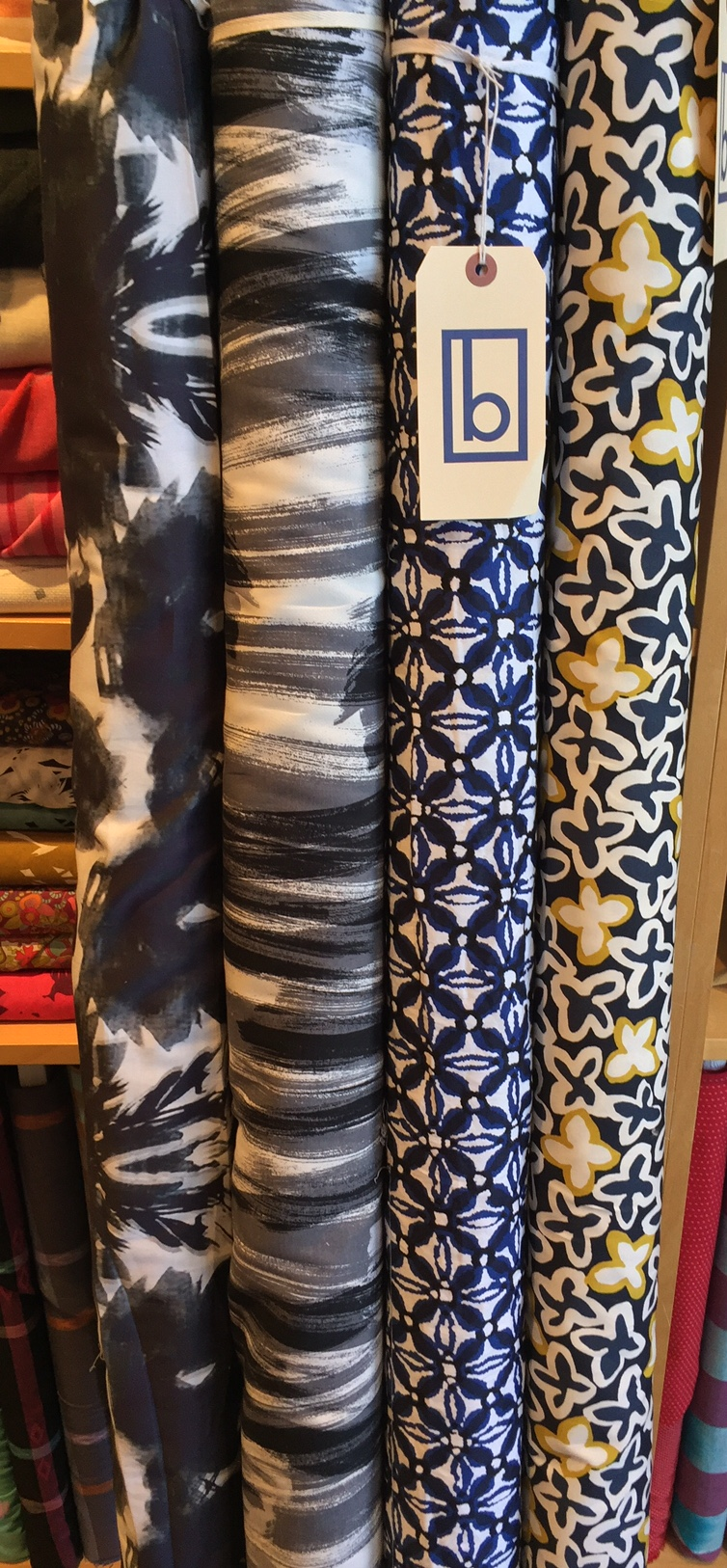 These smart stretch cotton prints are great office-wear options.