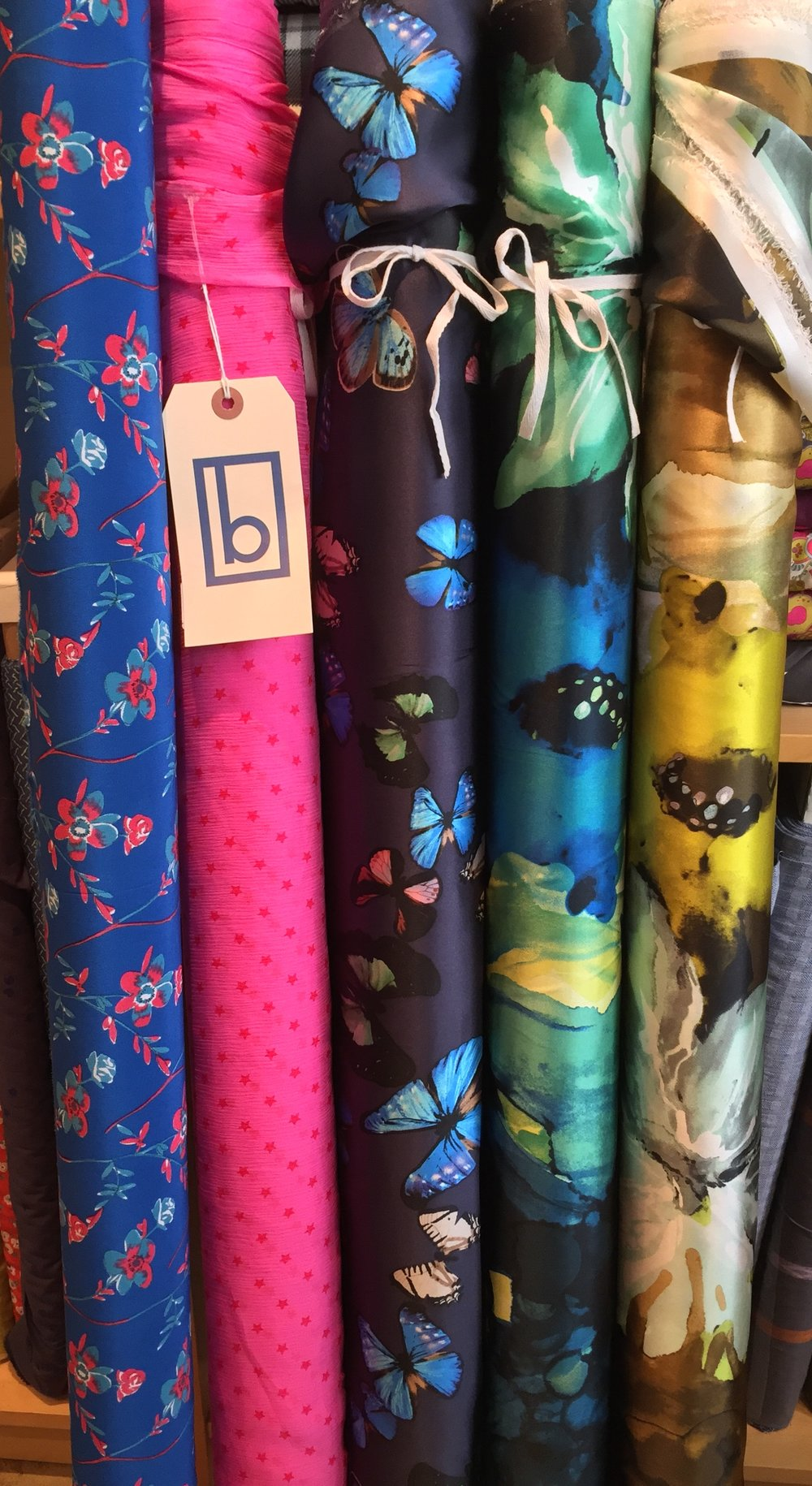These gorgeous contemporary floral silk charmeuse prints just arrived and are my new fave!
