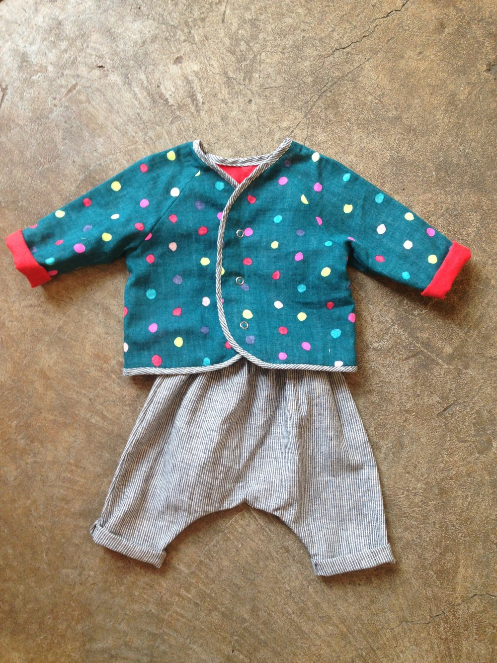 Lullaby Layette Jacket with Wiksten Harem Pants