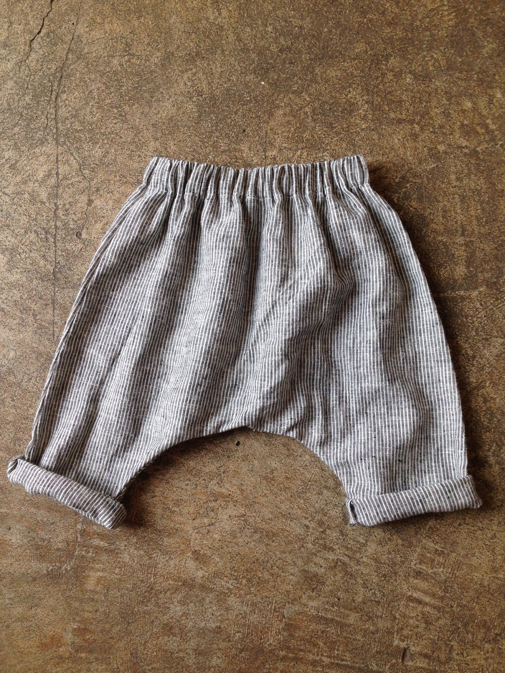 Harem Pants in hemp/organic cotton ticking