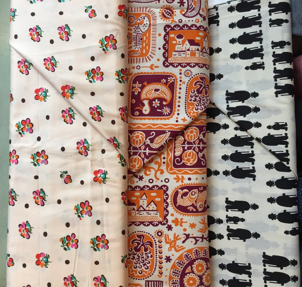 Vintage cotton prints! So special. From Miss Sarah.