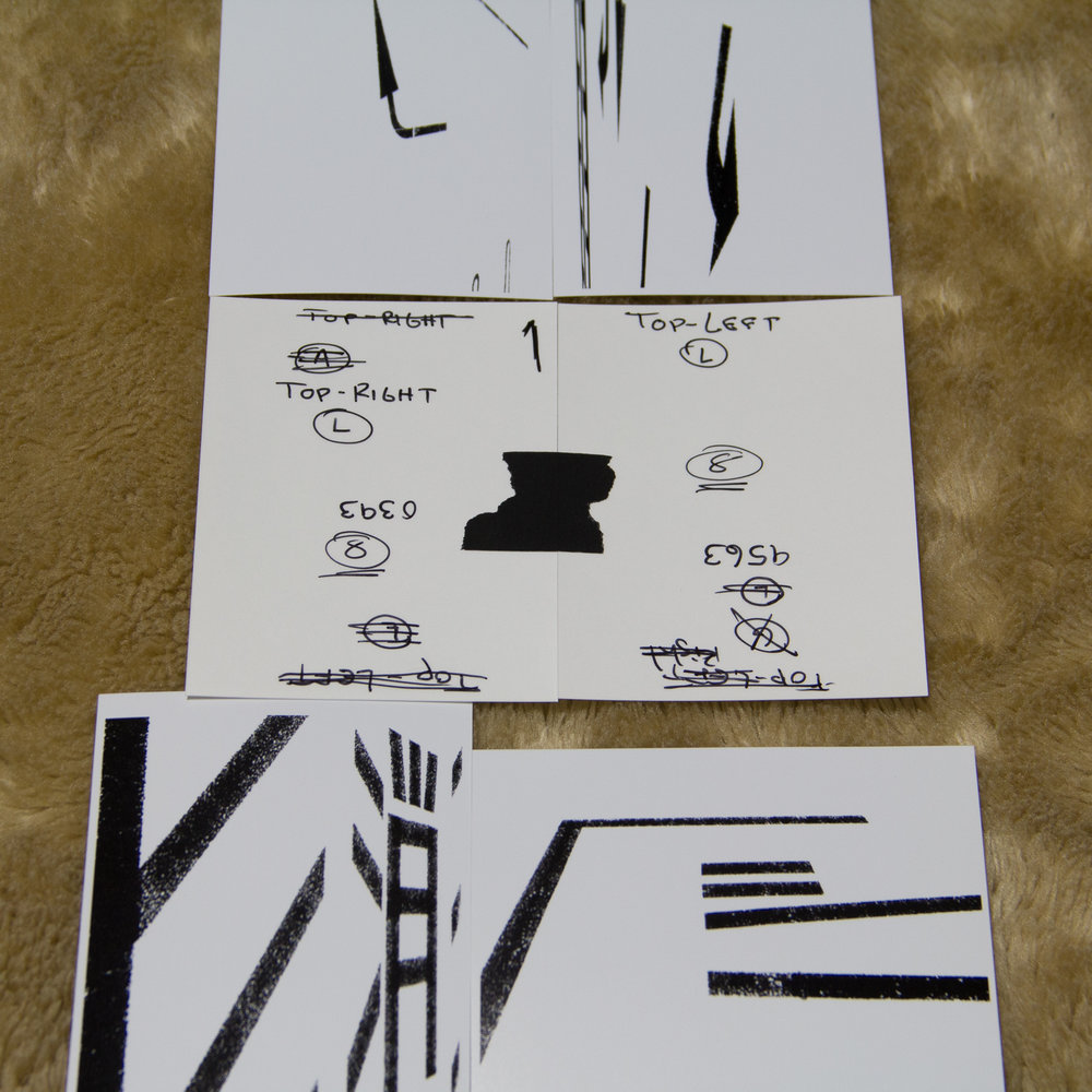 I made small prints of the final images I selected so I could visualize how they went together, and could play with orientation, left or right side, pairings etc. I made notes on the back of which images I paired up, and taped the final pairings together, then worked on page order as well.