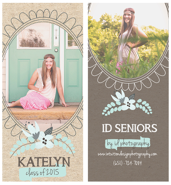 Sample of Senior Rep Marketing Cards