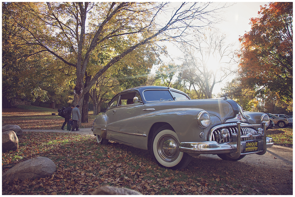 Mankato Wedding Photographer | Minneopa Falls | Unique Specialty and Classic Cars Inc. | Intuition Weddings by ID Photography