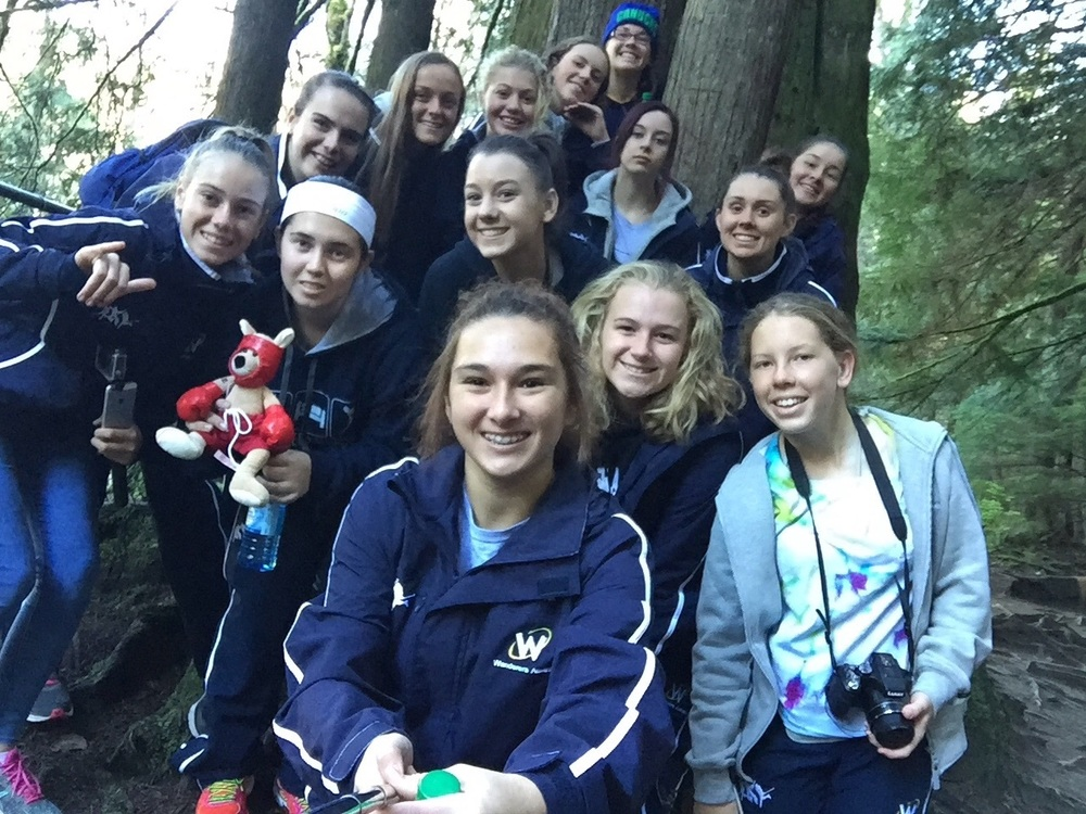 Team selfie at Lynn canyon